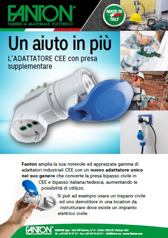 Adattatore CEE con presa supplementare